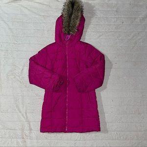 Girls Gap Kids Long Puffer Coat sz XXL Pink